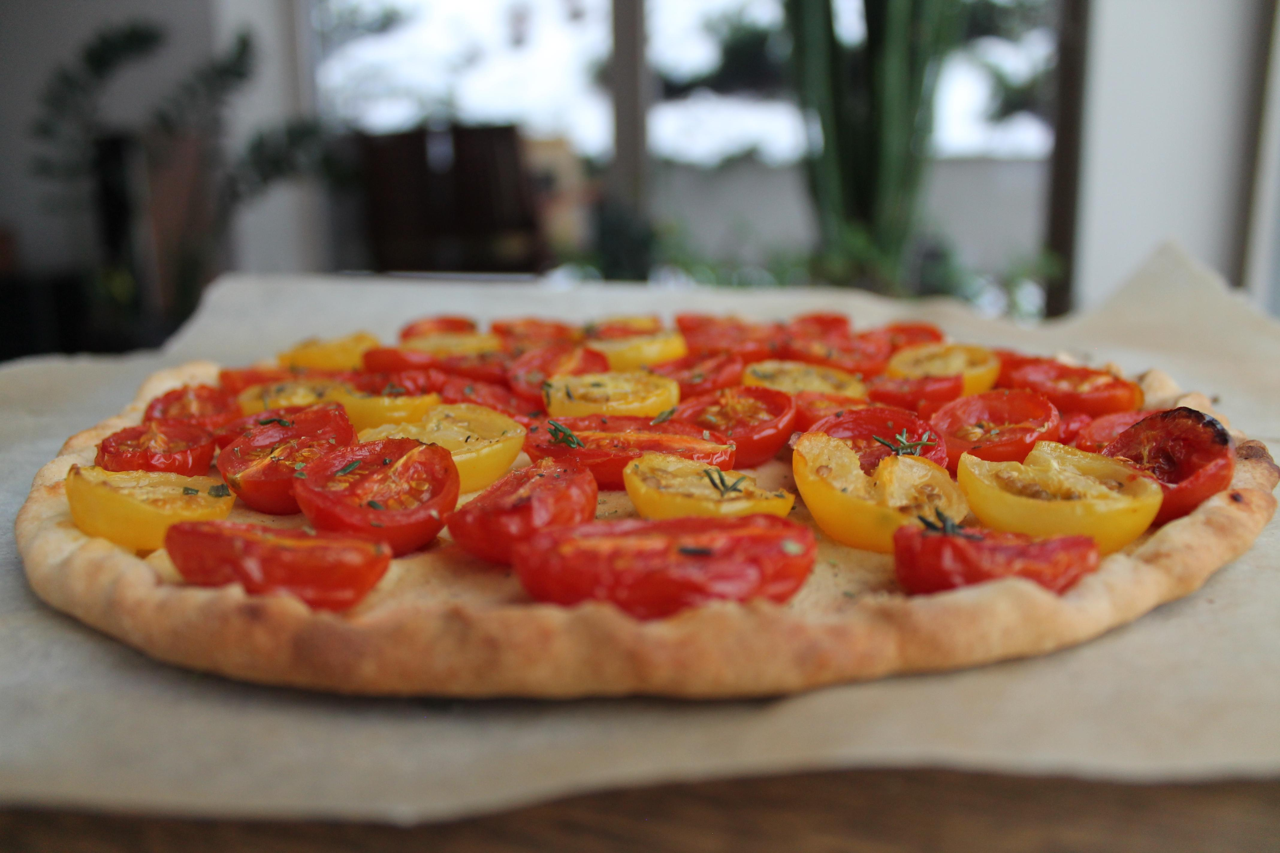 Galetės su ricotta bei pomidorais ir paprika