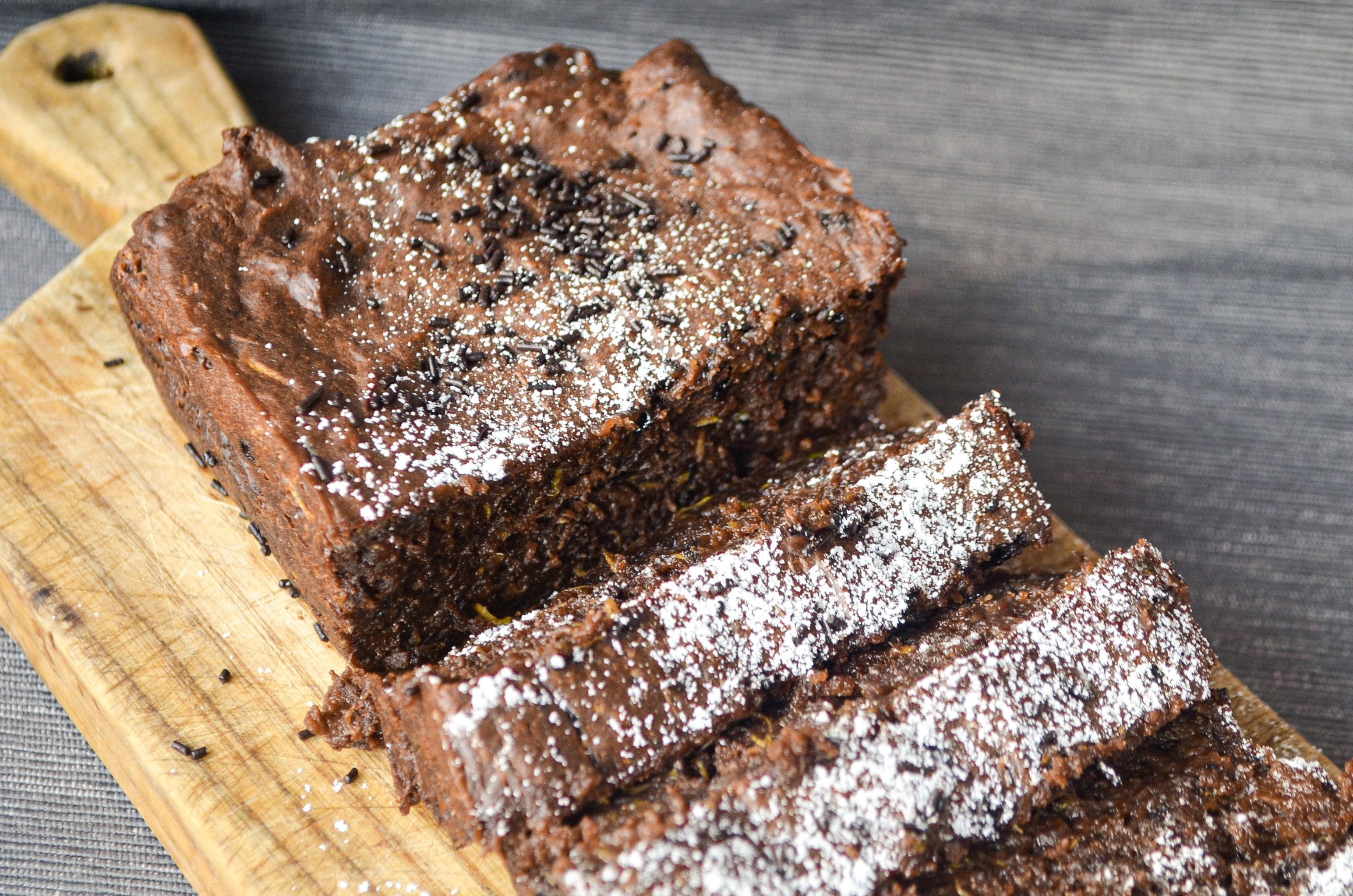 Šokoladinė cukinijų duona